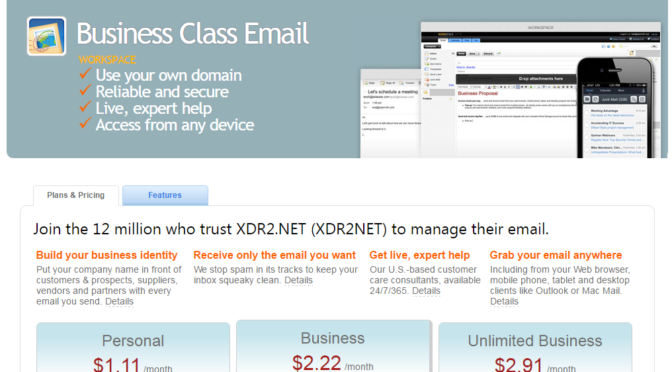 XDR2NET Email Accounts - Business Class Email