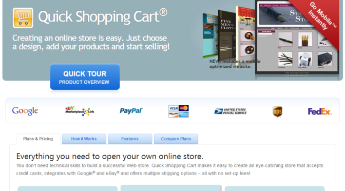 Quick Shopping Cart® Creating an online store is easy. Just choose a design, add your products and start selling!